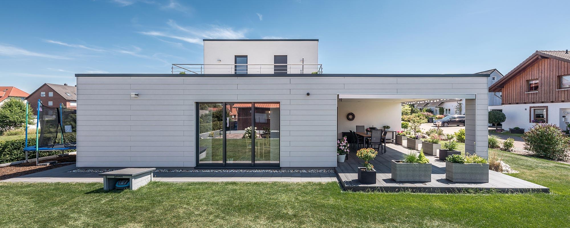 Holzhaus bauen in Holzrahmenbauweise, Referenz Holle Wohnhaus Klappenweg Lamspringe, Karl Hoffmeister GmbH