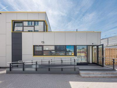 Objektbau in Holzrahmenbauweise, Referenz Stellwerk Hannover, Karl Hoffmeister GmbH
