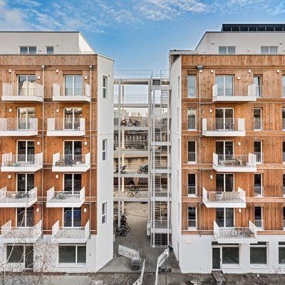 Mehrgeschossiger Wohnungsbau, Lynarstraße, © Markus Löffelhardt
